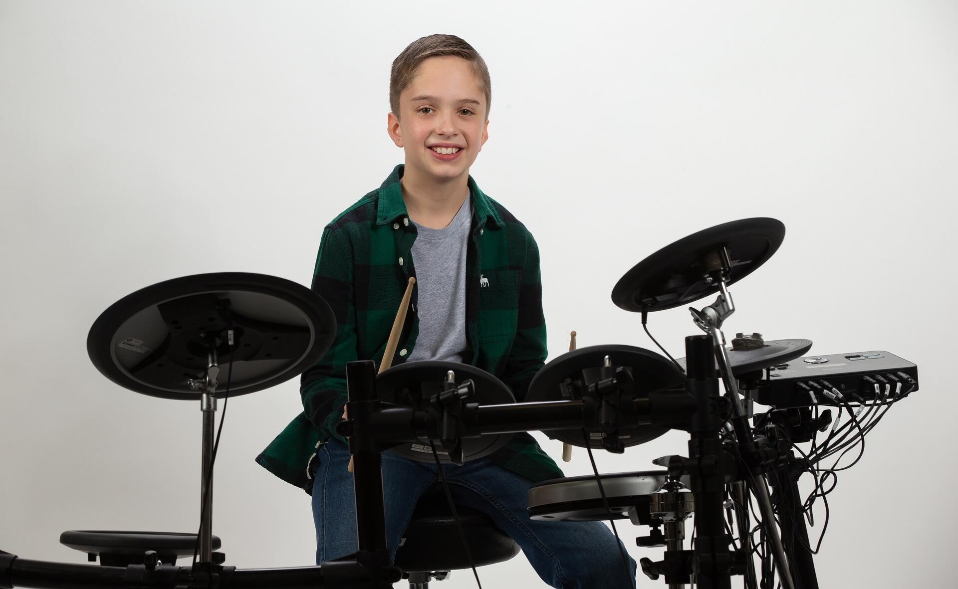 Drum Lesson student in Houston TX