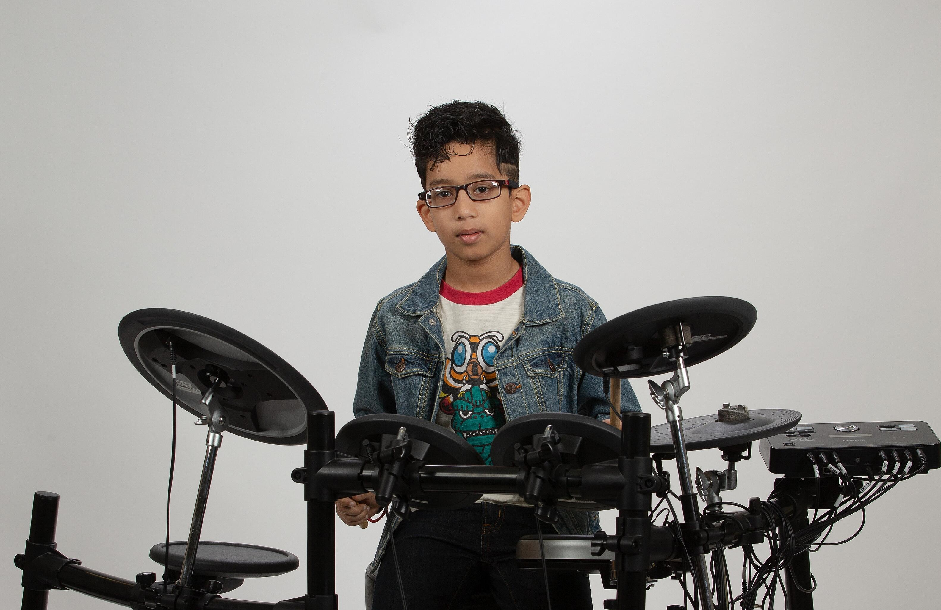houston drum lesson student